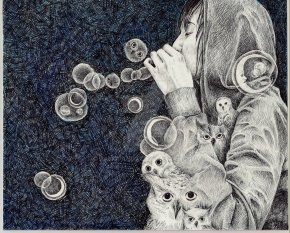 moon__owls__and_bubbles_by_dalkipanda-d2og9ms